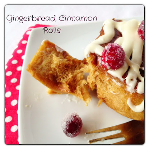 Gingerbread Cinnamon Rolls with Eggnog Cream Cheese Frosting