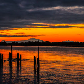 On the river by Peter Murphy - Landscapes Sunsets & Sunrises