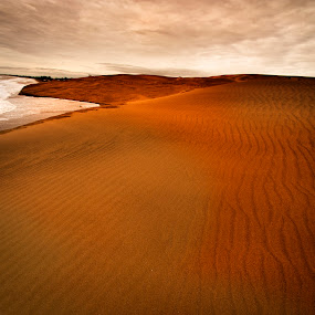 Dunes and sea by Cristobal Garciaferro Rubio - Landscapes Deserts ( clouds, shore, sand, dunes, sea )