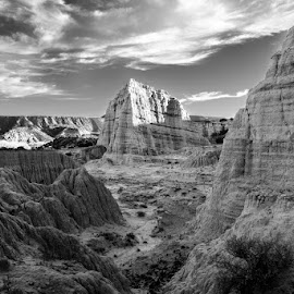 Another planet by Eric Abbott - Black & White Landscapes ( georgia o'keefe, landscape photography, nikon, white sand, the white place, new mexico )