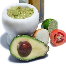 Yummy Guacamole by Fernando Bardia - Food & Drink Ingredients ( tomato, guacamole, avocato, onion, lemon, oil )