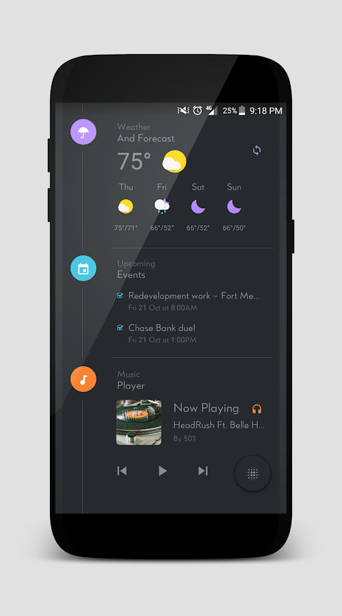 TimelineHome for KLWP Screenshot 5