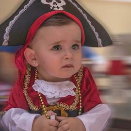 Baby Pirate models by Jamie Valladao - Babies & Children Child Portraits ( child, model, girl, costume, baby, pirate,  )