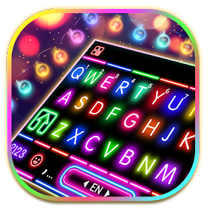 Sparkle Neon Lights Keyboard Theme For PC / Windows 7/8/10 / Mac – Free Download