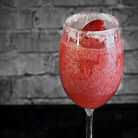 Time for a Strawberry Daiquiri   by Sherry Hallemeier - Food & Drink Alcohol & Drinks ( entising, mixed drink, daiquiri, frozen, strawberry, refreshing, hot summer days, beverage, alcohol, drink, glass, summer, sugar )
