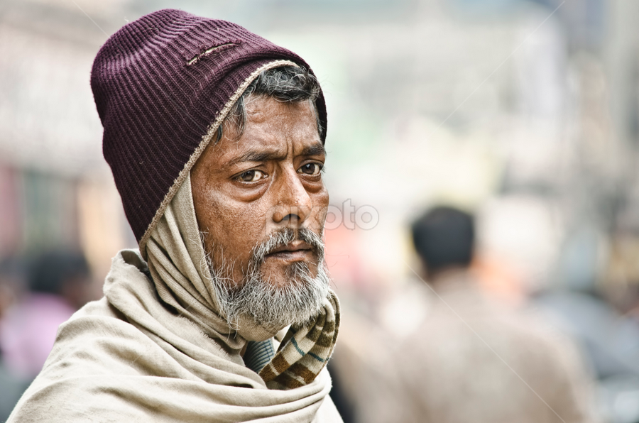 The Glimmer of Hope by Arup Acharjee - People Portraits of Men ( color, sad, male, indian, portrait, man, hope )