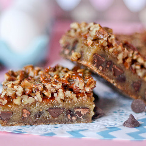 Chocolate Chip Cookie Pecan Pie Bars