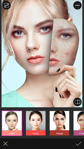 android You Makeup - Makeover Editor Screenshot 1