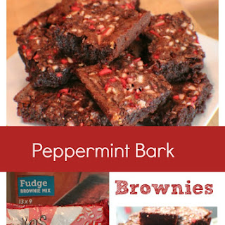 Peppermint Bark Brownies