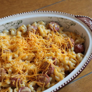 Mac and Cheesedog Casserole