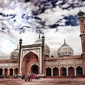 jama masjid by Baidyanath Arya - Buildings & Architecture Public & Historical ( india, jama masjid, delhi )