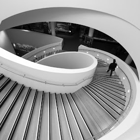 half spade by Gokhan Bayraktar - Buildings & Architecture Architectural Detail ( stairs, details, black and white, liverpool, museum )