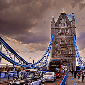 London - Tower Bridge  by Ivana Miletic - Travel Locations Landmarks ( pwclandmarks, london, london bridge, thams, ivana miletic, river )