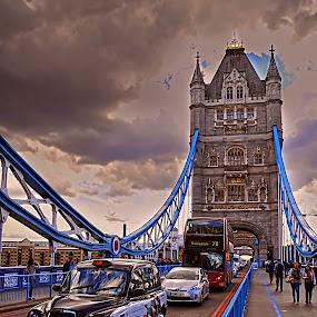 London - Tower Bridge  by Ivana Miletic - Travel Locations Landmarks ( pwclandmarks, london, london bridge, thams, ivana miletic, river )