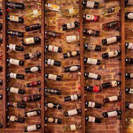 Wine Rack by Rick McEvoy - Food & Drink Alcohol & Drinks ( interior, building, rick mcevoy, commercial photographer, bar, dorset )