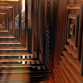 The Last Corridor by Rick Eskridge - Illustration Abstract & Patterns ( abstract, jwildfire, mb3d, fractal, twisted brush )