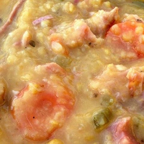 Canadian Yellow Split Pea Soup with Ham