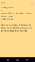 Screenshot of English Portuguese Dict Free