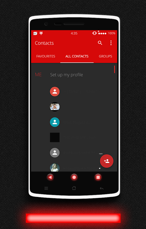 Glow Red CM13 CM12/12.1 Theme Screenshot 13