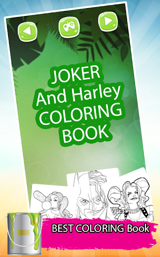 Harley & joker squad coloring For PC