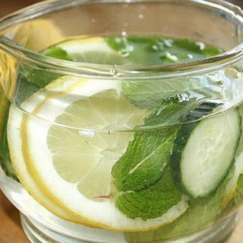 Homemade Cucumber Drink With Lemon For Weight Loss