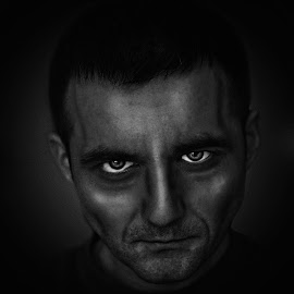Sin City by Cosmin Lita - Digital Art People ( fantasy, monochrome, man, portrait, sin city )