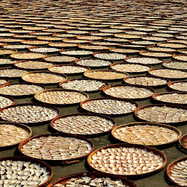 drying crackers by Ignatius Winarto - Food & Drink Ingredients ( abstract, ingredients, foods, indonesia, food, fotografia, ingredient, traditional, photography )