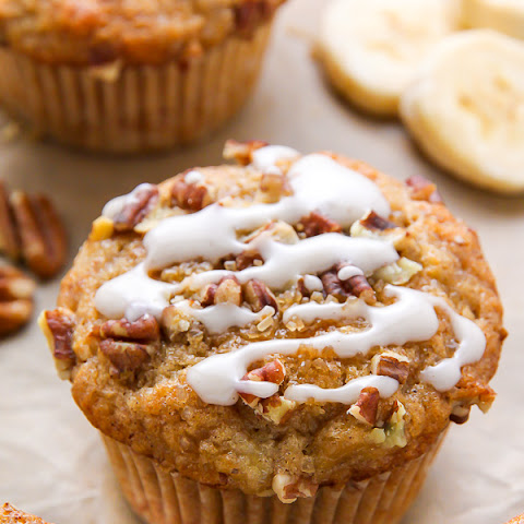 Maple Pecan Banana Muffins