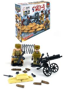 """Конструктор серии """"Brick Battle"""", солдат пулеметчик 2"""