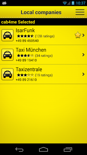 cab4me taxi finder screenshot 2