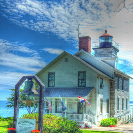 Old Sodus Point Light House by Ruth Diamond - Digital Art Places