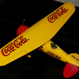 Your Thirst Takes Wings by Sandy Stevens Krassinger - Artistic Objects Toys ( plane, wings, yellow, artistic objects, tail,  )