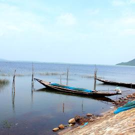 The Boats And Beyond............... by Soutik Halder - Transportation Boats ( chillika, india, lake, odhisa, rambha )