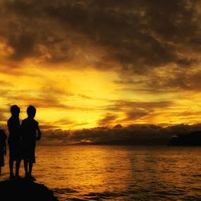 Empat Sekawan by Suwito Pomalingo - Landscapes Waterscapes ( olele, landscape, silluete, gorontalo )