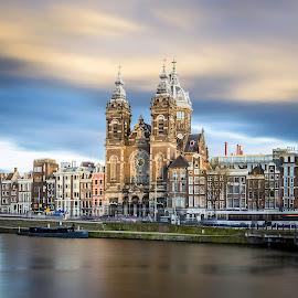 Amsterdam by Nikolas Ananggadipa - City,  Street & Park  Street Scenes ( canon, building, sky, belanda, holland, long exposure, amsterdam, netherlands, city )