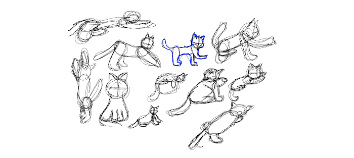 quick sketch of cats