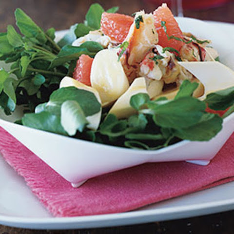 Hearts of Palm Salad with Ruby Red Grapefruit and Dungeness Crab
