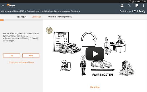 WISO steuer:App 2016 - screenshot