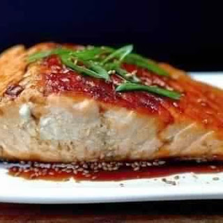 Salmon In The Glaze Of Soy Sauce