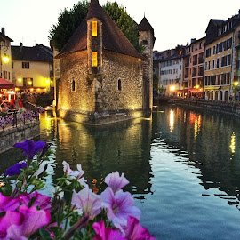 Old Prison  by Dana Walker - Instagram & Mobile iPhone ( annecy, prison, france, flowers, 12th century, restaurants, canal, river )