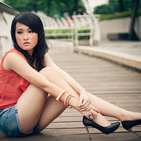 Waiting by Deddy Dwianto - People Portraits of Women