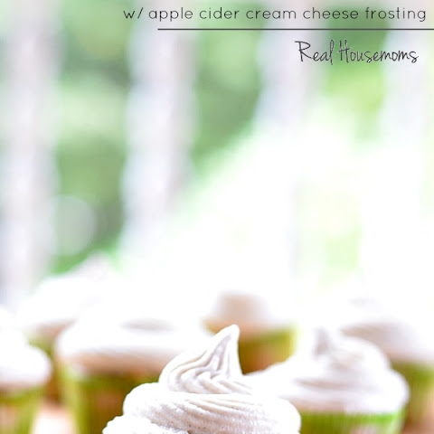 Apple Cider Cupcakes with Apple Cider Cream Cheese Frosting