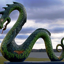 Guardian of Serpent Lake by Teresa Daines - Artistic Objects Other Objects
