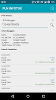 Screenshot of PLN INFOTOK