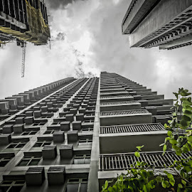 Soon by Jerferson Permejo - Buildings & Architecture Office Buildings & Hotels ( building, dramatic, cloudy, magnolia )