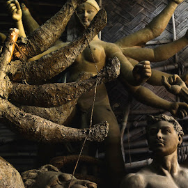 Preparation of festival by Subhadip Biswas - Artistic Objects Still Life ( preparation, kolkata, idol, durga puja, durga )