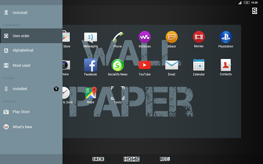 XText-Xperia Theme - screenshot