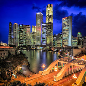Boat Quay by CK Lam - City,  Street & Park  Skylines ( boat quay, singapore, north bridge road, raffles place, singapore river )