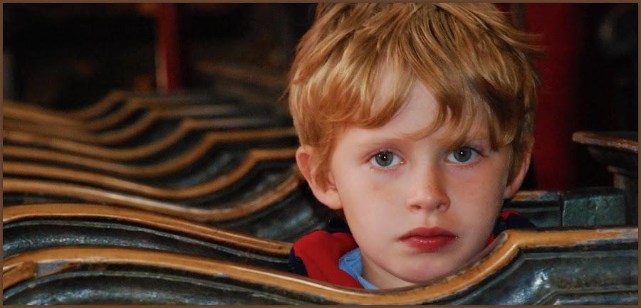 Boy from the church by Jasminka Nadaskic Djordjevic - Babies & Children Child Portraits ( child, church, loneliness, boy, portrait, eyes,  )