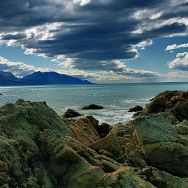 Kaikoura by Tim Bennett - Landscapes Cloud Formations ( kaikoura, seascape, south island, clouds, new zealand )